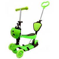 Самокат детский трехколесный Best Scooter 4в1 салатовый***