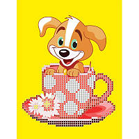 Собачье чаепитие. Луиза. Схема на ткани для вышивания бисером