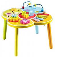 Развивающий столик, деревянный, в кор. 42*42*10см, ТМ Baby Mix