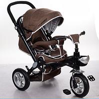 Велосипед-коляска с поворотным сиденьем, надувные колеса M AL3645A-13,шоколадный