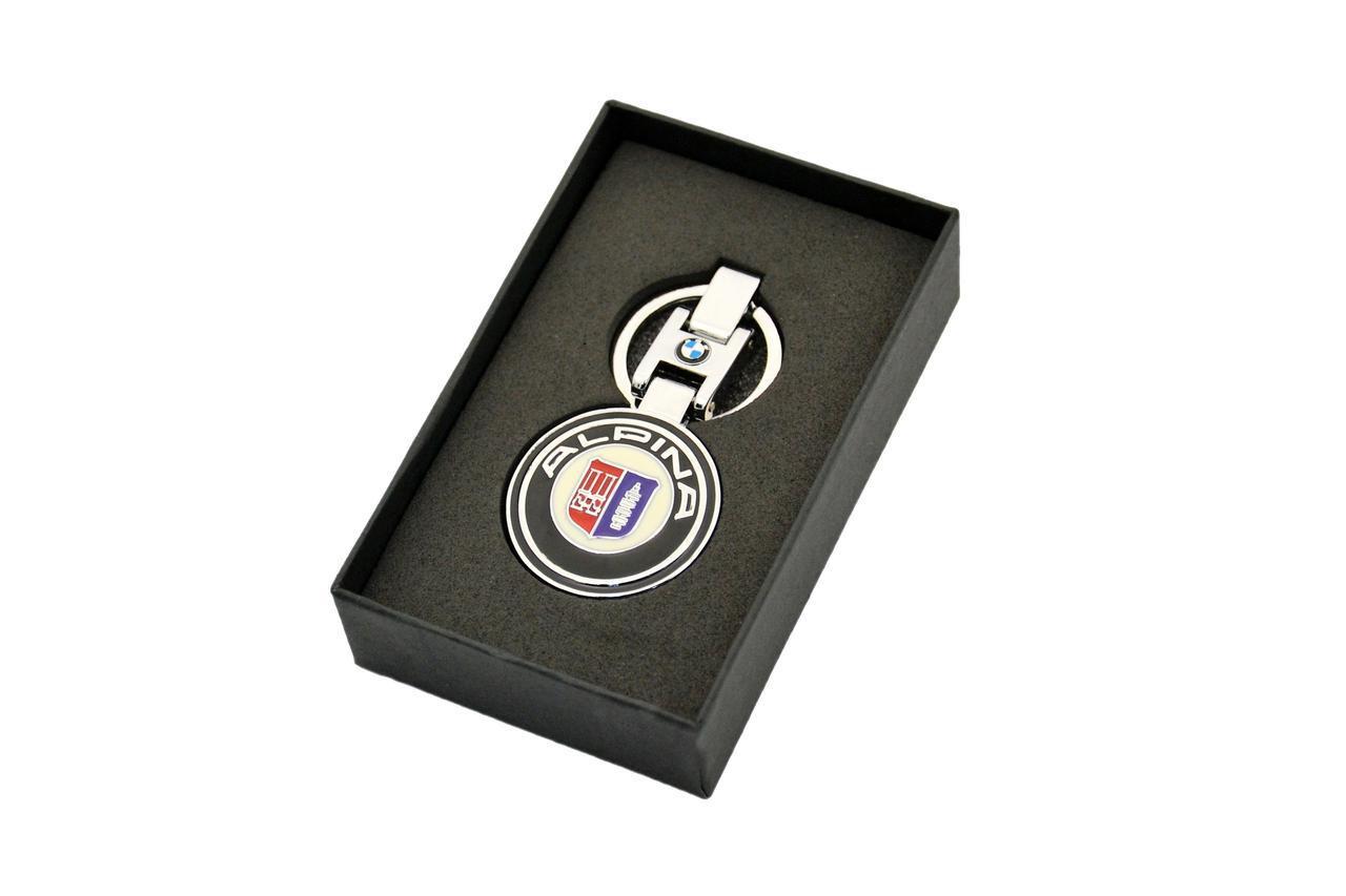 Брелок для ключей BMW БМВ ALPINA (Premium, черный)