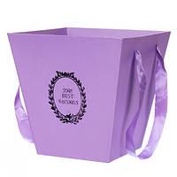 Коробка для цветов ( сиреневая )