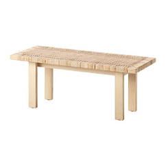 Журнальный стол IKEA STOCKHOLM 2017 100x40 см ротанг ясень 103.450.68