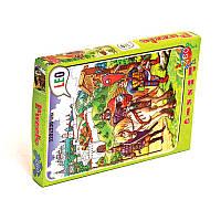 """Пазлы 219-8 260 эл. (12 шт.) Лео, """"Три богатыря"""" в кор-ке 28-19,5-3,8см, детская игра, игрушка"""