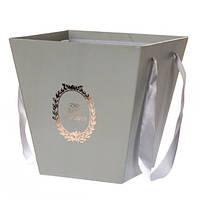 Коробка для цветов ( серая )