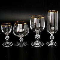 Набор свадебных стаканов Claudia 24 шт Bohemia 40149 20746 50-24