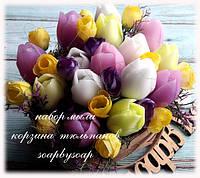 """Набор мыла """"Корзина с тюльпанами"""", фото 1"""