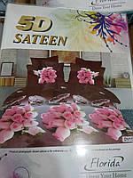 Красивое постельное белье сатин Турция 5D