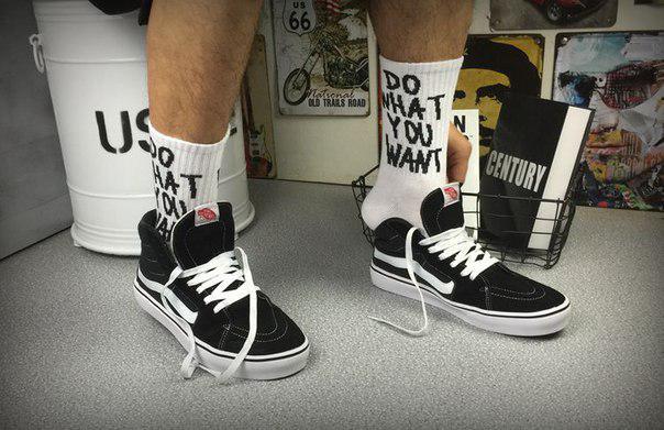 Высокие носки с надписью Do what you want