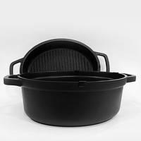 Кастрюля + сковорода гриль MR-4126