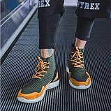Высокие молодежные кроссовки на шнуровке, фото 3