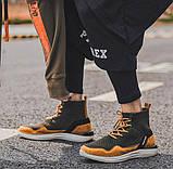 Высокие молодежные кроссовки на шнуровке, фото 4