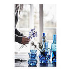 Подсвечник / ваза IKEA STOCKHOLM 2017 12 см синий 003.394.59, фото 2