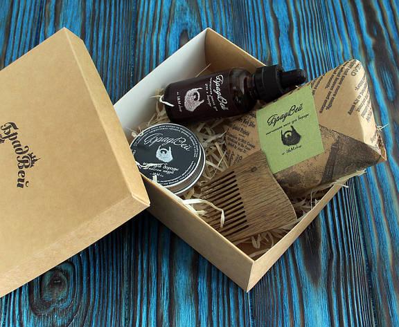 Подарочный набор масло, воск, мыло, гребень для бороды (262015) , фото 2
