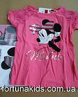 Трикотажные футболки для девочек Disney 98/104-134 р.р.