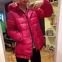 Куртка с капюшоном малиновая