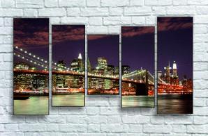 """Модульна картина """"Ньою-Йорк, міст"""""""