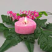 Свеча сердечко из пальмового воска h 30, Ø 65 мм