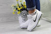 Женские кроссовки Nike Flyknit Air Max (белые), ТОП-реплика, фото 1