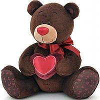 Мягкая игрушка ORANGE Мишка Choco с сердцем сидячий 20 см (C003/20)