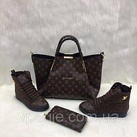 Набор: сумка, кошелек, обувь (ботинки)