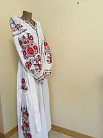 Плаття тканина льон білий