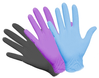 Перчатки нитриловые