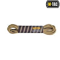 Шнурки M-TAC c пропиткой (бежевые) черный, 135 мм