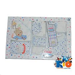 Набор  для новорожденных Atabay от 0-4 мес, состоит из 7 предметов, подарочная коробка.  1 шт. в упаковке.