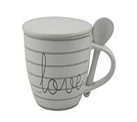 Love Кружка с крышкой и ложкой 350мл фарфор Limited Edition