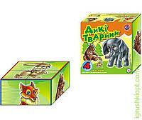 """1820 Іграшка кубики """"Дикі тварини ТехноК"""""""