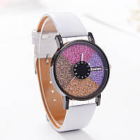 Часы женские Stardust Секции белый ремешок 075-4