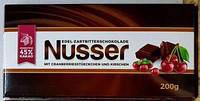 Шоколад чорний Nusser 45% з вишнею і журавлиною 200g (12шт/ящ)
