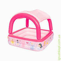 BW Бассейн Принцессы, квадратный, надувной с надувной съёмной крышей