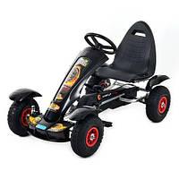 Детская педальная машина веломобиль M 1450-2 черная