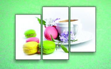 """Модульна картина """"Макаруни і чай"""""""