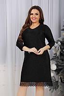 Платье женское с кружевом батал  гул699, фото 1