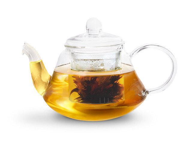 Чайник для заваривания Fissman LUCKY 0.8 л (Боросиликатное стекло, стальной фильтр)