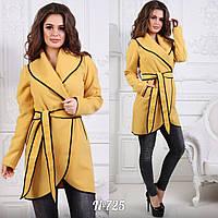 Элегантное пальто с отделкой