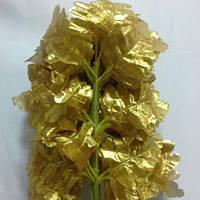 Парча золотая лист папоротника-искусственные листья, ветки, фото 1