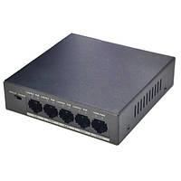Dahua 4-портовый неуправляемый POE коммутатор PFS3005-4P-58