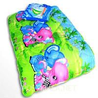 Детское закрытое силиконовое одеяло 110x140 с подушкой 50х50 T-54799