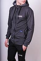 Кофта мужская с капюшоном, р-ры от S до XL