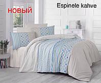 Постельное белье ранфорс Altinbasak (полуторное) № Espinele Kahve, фото 1