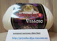 Полушерстяная пряжа (51%-шерсть, 11%-кролик, 38%-акрил, 100 г/460 м) Valencia Velloso 11-0601(белый)