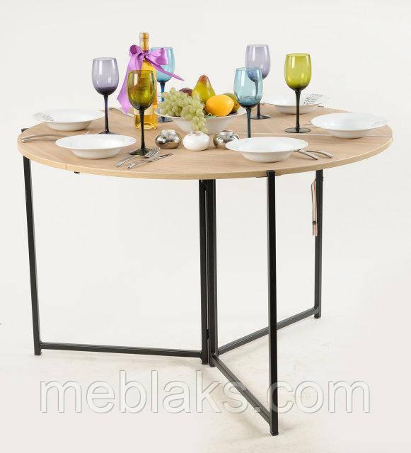 Стол трансформер круглый Пиланго для гостинной
