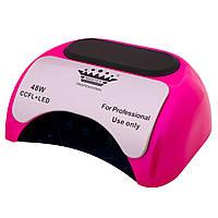 УФ LED+CCFL Master Professional (48Вт) гибридная лампа 10, 20, 30 сек (Розовая)