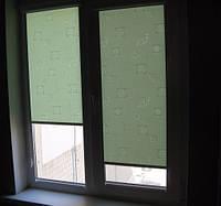Рулонні штори тканина Ікеа2068 зелений колір 40см