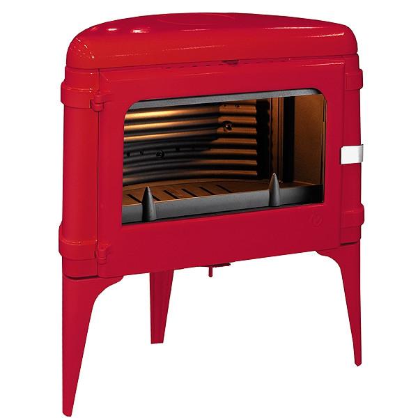 Чугунная печь Invicta Luna красная 10 кВт