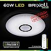 Накладной светодиодный светильник потолочный BRIXOLL BRX-60W-003 с пультом ДУ (Smart Light Shiny) 4500Lm